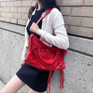 BALENCIAGA red city bag